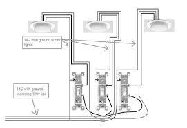 triple light switch wiring diagram