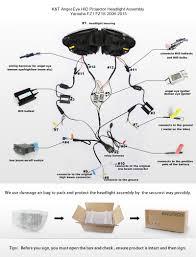 angel eye hid projector headlight assembly yamaha fz1 2006 2015