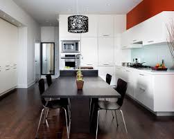 Red Kitchen With White Cabinets Black White Red Kitchen Houzz
