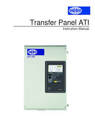 ati instruction manual transfer panel mains electricity