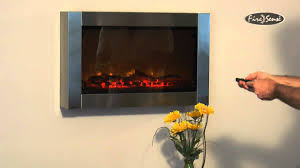 stainless steel wall mounted electric fireplace item 60758 youtube