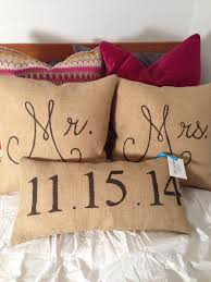 mr and mrs pillows custom mr and mrs pillows on burlap chix designs