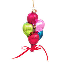 bouquet glass christmas ornament