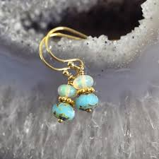 turquoise opal earrings ethiopian opal earrings opal jewellery