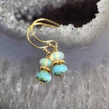 turquoise opal earrings ethiopian opal earrings opal jewellery