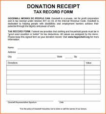 7 donation receipt template free return receipt form