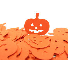 pumpkin paper punches halloween jack o lantern confetti brown