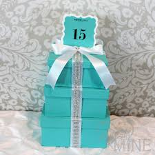 tiffany and co box centerpieces tier boxes with custom table