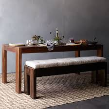 Long Table With Bench Contemporary Ideas Narrow Dining Table With Bench Majestic Design