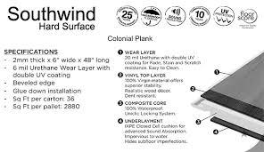 southwind colonial plank wpc waterproof flooring on sale