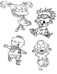 the rugrats characters coloring page color luna
