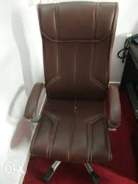 Rolling Armchair Brown Leather Padded Rolling Armchair Mumbai Furniture Andheri