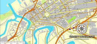 map of cleveland cleveland exact map printable and editable ohio usa printable