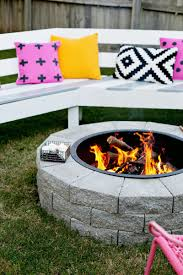 How To Build Your Own Firepit Make Your Own Pit In 4 Easy Steps A Beautiful Mess