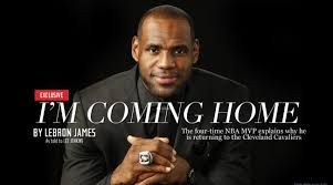 lebron james announces return to cleveland cavaliers si com