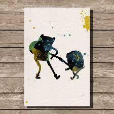 adventure time watercolor illustration art print wall art