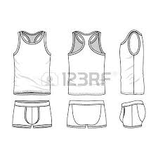 men u0027s underwear in front back and side views blank templates