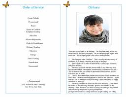 Funeral Program Sample Funeral Program Example Funeral Program Examples Sandy Single