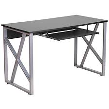 Computer Desk Tray Stanton Computer Desk With Pullout Keyboard Tray Black