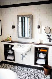 black and white bathroom tile fpudining