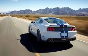 white mustang blue stripes see ford s mustang shelby gt350 in 52 photos and