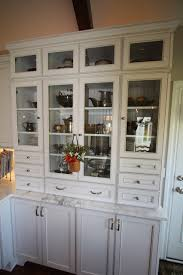 Kitchen Furniture Hutch Glass Paneled Hutch Traditional Kitchen Cleveland By