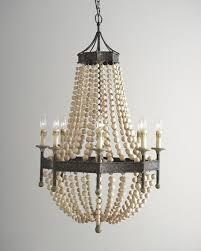 bead chandelier andrew design wood bead 8 light chandelier