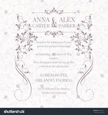 wedding invitation design classic cards decorative stock vector