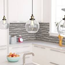 Glass Kitchen Pendant Lights Pendant Lighting You Ll Wayfair