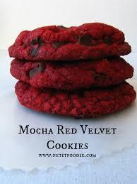 mocha red velvet cookies petit foodie