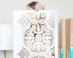 Stencils For Home Decor Scandinavian Wall Stencils By Stencilit On Etsy