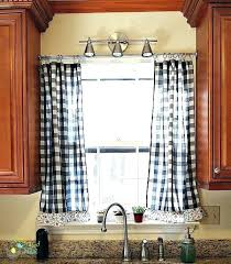 Blue And White Gingham Curtains Yellow And White Checkered Kitchen Curtains Black Damask Cafe W