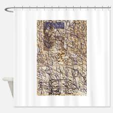 Shower Curtains With Writing Gold Beige And Brown Shower Curtains Cafepress