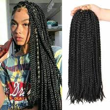 crochet hair box braids crochet braids synthetic braiding hair 12 roots crochet