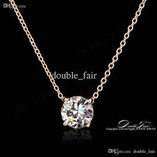 real diamond necklace images Wholesale ol style 4 claw cz diamond necklaces pendants 18k real jpg