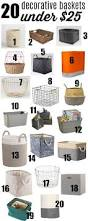 the 20 best contemporary storage baskets under 25