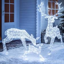 light up led sparkly reindeer indoor outdoor acrylic