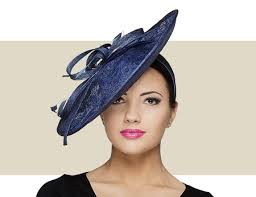 lace fascinator navy blue lace fascinator hat with sinamay bow flower