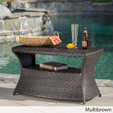 Iron Patio Table With Umbrella Hole by Berkeley Outdoor Wicker Side Table With Umbrella Hole By