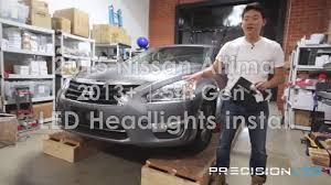 nissan altima 2013 headlights nissan altima led headlights how to install 2013 present youtube