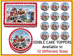 transformers rescue bots 1 edible cake or cupcake topper edible 80 best e images on birthdays birthday party ideas
