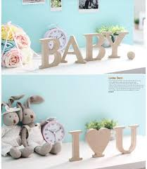 Decorating Wooden Letters Diy Wooden Letter Ornament Creative Letter Decoration Wooden