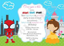 superhero princess party birthday invitation diy by jcbabycakes