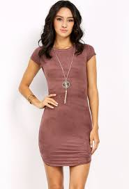 bodycon dress faux suede bodycon dress w necklace shop floral dresses at
