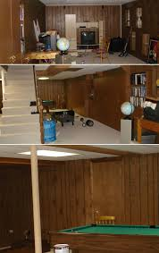 painting paneling in basement painted paneled basement revealed a great idea to paint our