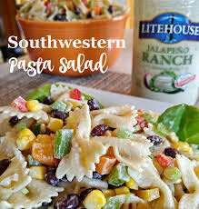 cold pasta salad dressing giveaway litehouse foods and recipe for southwestern pasta salad