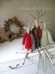 primitive christmas tilda deer scandinavian christmas deer