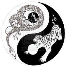 tiger yin yang sketch by donle83 deviantart com on