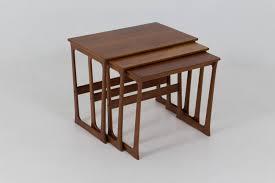 Nesting Dining Table Mid Century Danish Modern Nesting Tables By Johannes Andersen