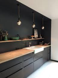 cuisine noir bois charming cuisine noir mat et bois 8 1001 id233es cuisine noir mat